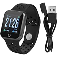 Zerone Fitness Tracker podómetro Smartwatch Tensiómetro Pulsómetro IP67 Resistente al Agua Fitness Reloj Podómetro Pulsera para