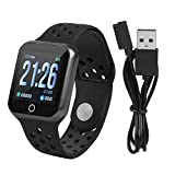 Zerone Fitness Tracker podómetro Smartwatch Tensiómetro Pulsómetro IP67Resistente al Agua Fitness Reloj Podómetro Pulsera para Mujeres y Hombres para iOS y Android