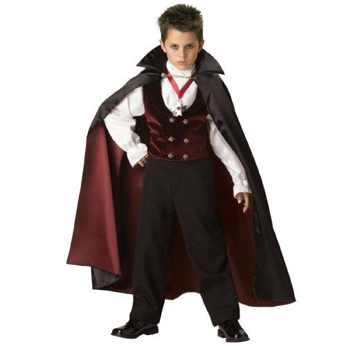 Gothic Vampir Dracula Kostüm für Kinder - Gr. 6 (110-116cm) (Gothic Kostüm Kinder)