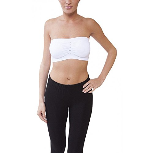 Midi Shopping - Lot 2 Brassieres Femme Bandeau Simple avec Paillettes Noir Et Blanc Multicolore