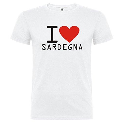 T-Shirt manica corta Unisex I Love Sardegna By Bikerella BIANCO/COLOR