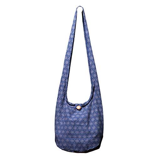 PANASIAM Schultertaschen Asanoha Design in blau, L (Mann Bag Wickeltasche)