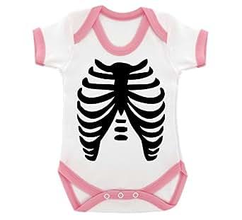 Goth Baby Skeleton Design Design Baby Bodysuit With Baby