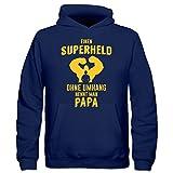 Einen Superheld ohne Umhang nennt man Papa Kinder Kapuzenpulli by Shirtcity
