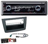 caraudio24 Blaupunkt Brisbane 270 BT AUX MP3 SD Bluetooth USB Autoradio für Alfa Romeo Mito 955 ab 14 schwarz Quadlock