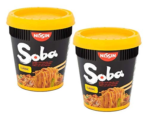 Nissin Soba Classic Instant Buckwheat Noodles with Yakisoba Sauce - 2 x 90 Gram