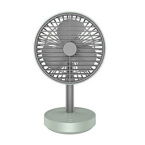 Younthone USB Mini Electric Fan Oszillierender LüFter Wind Mit 4 Geschwindigkeiten Einstellbar Be Quite Desktop BüRo Campus Fan 4000mAh Tragbarer Ventilator