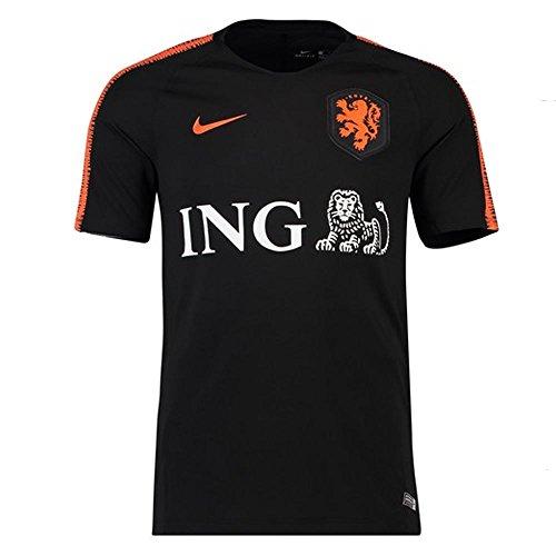 Nike 2018-2019 Holland Training Football Soccer T-Shirt Trikot (Black)