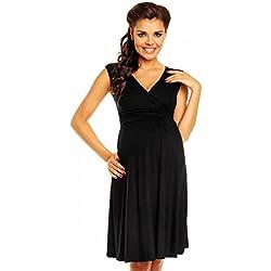 Vestido negro maternidad