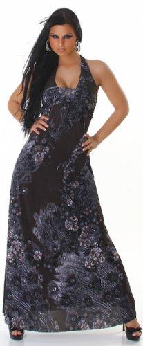 Graffith dos extra-longue pour femme avec motif multicolore taille unique (34–38) Noir - Noir