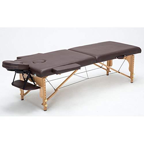 ZEDICN Falten Schönheit Bett 180Cm Länge 60Cm Breite Professionell Tragbar Spa Massage Tabellen Faltbar Mit Tasche Salon Möbel Aus Holz-Brown-186 * 60Cm -