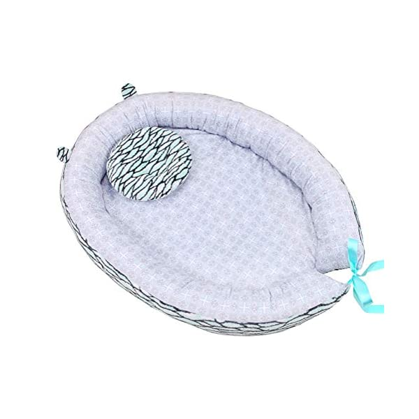 LNDD-2 in 1 Bionic Uterine Multifunctional Baby Lounger Portable Sleeping Nest Pods Shower Gift Suitable for 0-6 Years Old Baby,Gray LNDD ★PRODUCT DETAILS: The bottom is made of non-slip fabric, safe and wearable, the beautiful ribbon is beautiful and generous, the bionic design is stable and asleep, giving the baby a full sense of security. ★RETRACTABLE DESIGN: close the sleep Adjustable tightness helps to extend the sleep time in the middle of the night, open the sleep and extend the use time to improve the price/performance ratio. ★SAFE SLEEP: It is designed to provide a safe, comfortable and soothing environment for babies. We think it is the next best thing in the womb. Babies can rest, play and rest, and allow parents to sleep safely with their babies. 1