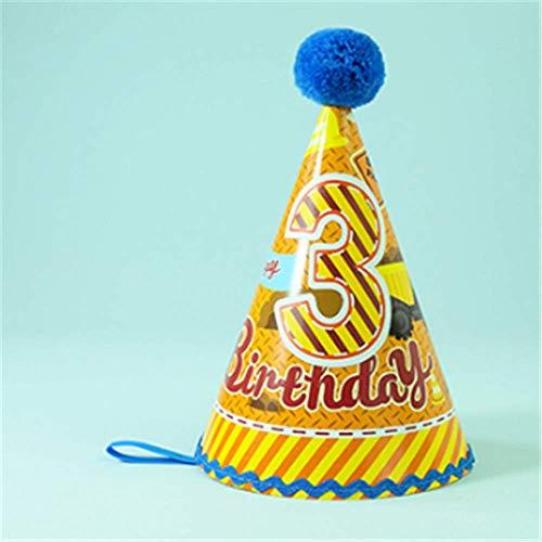 BEIOR Festive Party Dress up Atmosphere Supplies Creative Birthday hat Children's Party Triangle Hat Birthday hat Project (Dress Up Birthday Party Supplies)