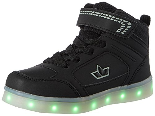 Lico Unisex-Kinder Disco High Hohe Sneaker, Schwarz (Schwarz), 34 (Disco Schuhe)
