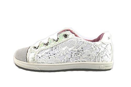 LAURA BIAGIOTTI sneakers bambina bianco tessuto camoscio AH988 (32 EU)