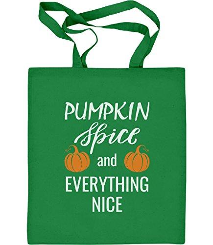 s Pumpkin Spice Kürbis Halloween Geschenk Jutebeutel Baumwolltasche One Size Grün ()