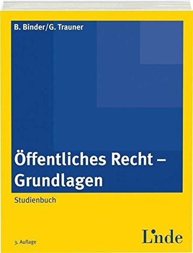 Öffentliches Recht - Grundlagen: Studienbuch (Linde Lehrbuch) by Bruno Binder (2014-04-03)