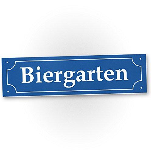 DankeDir! Biergarten Straßenschild (40 x 10 cm) - Party Deko Oktoberfest Party - Motto Party Wiesn/Bayern, Geschenkidee Geburtstagsgeschenk Bester Freund - Freundin, Lustiges/originelles Geschenk (Lustige Straßenschilder)