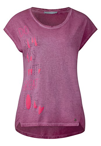 CECIL Damen Neon Wording Shirt deep pink (beere)