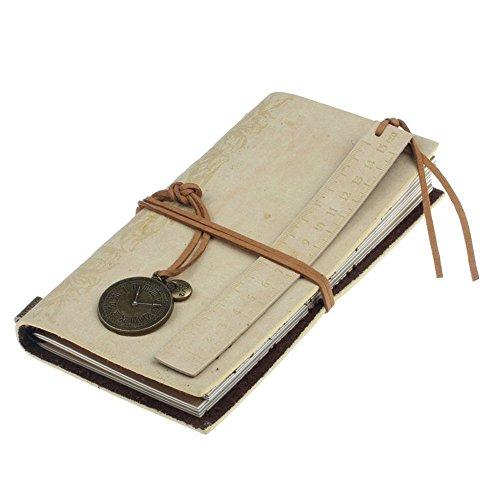 Preisvergleich Produktbild winwintom Retro Classic Vintage Leder gebundenes Notizbuch beige