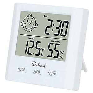 Dekool Igrometro Termometro Digitale, Monitor Umidità da Interno, Temperatura Digitale, Stazione Meteo con Espressione… 8 spesavip