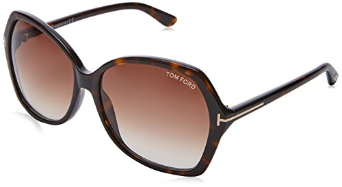 Tom Ford Damen FT0328 52F 60 Sonnenbrille, Braun (Avana Scura/Marrone Grad),