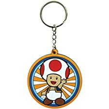 Nintendo Rubber Keychain Toad