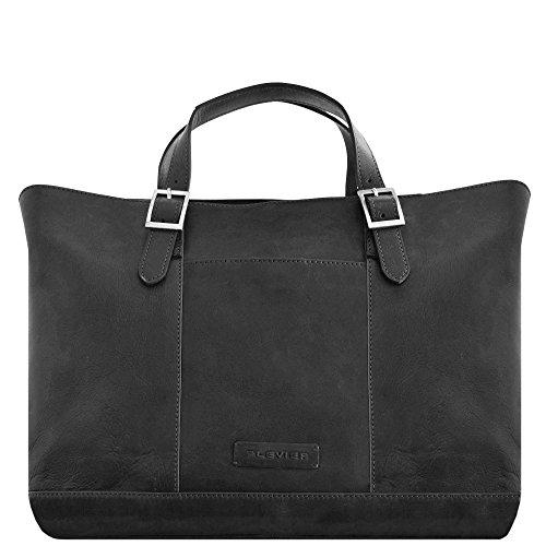 Plevier 800er Serie Business Shopper Tasche 45 cm Laptopfach schwarz