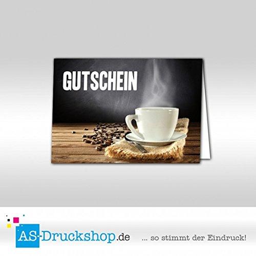 Gutschein Bäckerei Cappuccino / 25 Stück/DIN A6