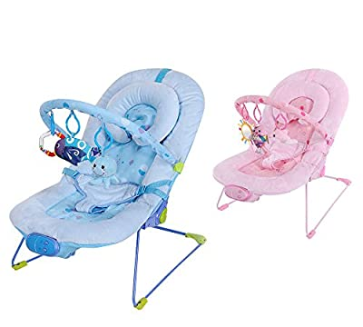 Luxury Soft Fabric Baby Vibrating and Musical Bouncy Chair, with Recline and Head Hugger produced by Inside Out Toys - quick delivery from UK.