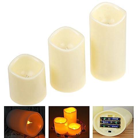 LZHOO 3 Led Flammenlose Kerzen, Elektrische Flackernde Batteriebetriebene Teelichter LED Votivkerzen Weihnachtskerzen für Weihnachtsbaum, Weihnachtsdeko, Hochzeit, Geburtstags,