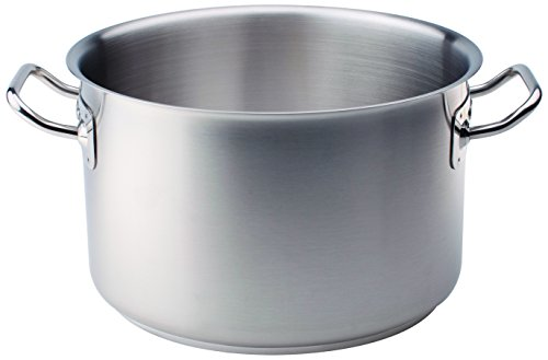 Pentole Agnelli Stainless Steel 18 / 10 Low Saucepan with Two Handles 28 Cm steel