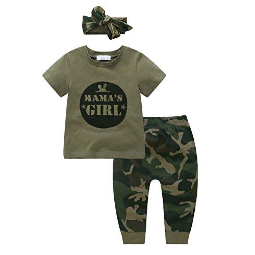 Shiningup Baby-Pyjama-Set Boy Girl Camouflage Kleidung Set Mama's Boy Mama Mädchen Mode Outfit für 6 Monate bis 4 Jahre alt -