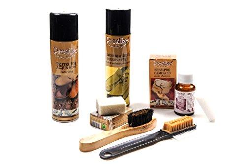 Set completo di prodotti specifici per la pulizia di scarpe in camoscio e nabuk (207 - rosa)