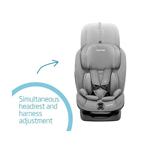 Maxi-Cosi Titan Toddler/Child Car Seat Group 1-2-3, Convertible, Reclining ISOFIX Car Seat, 9 m - 12 y, Nomad Grey Maxi-Cosi A multi-stage car seat suitable for babies, toddlers and children from 9 months to 12 years (approx. 9 - 36 kg) Easy adjustable and smooth headrest of this reclining car seat grows along in 11 steps to provide comfort for your little one Solid ISOFIX installation with top tether offers high stability for this convertible car seat 4