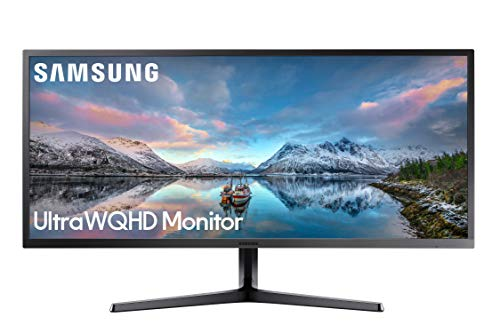 Samsung LS34J552WQUXEN 86,7 cm (34 Zoll) Monitor (HDMI, 4ms Reaktionszeit, Display Port, 3.440 x 1.440 Pixel, 60Hz, Ultra WQHD-Bildqualität) dunkelblaugrau (Desktop-computer Plus Monitor)