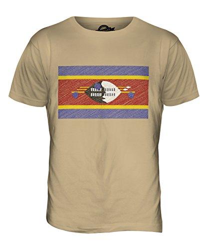 CandyMix Swaziland Bandiera Scarabocchio T-Shirt da Uomo Maglietta Caramello