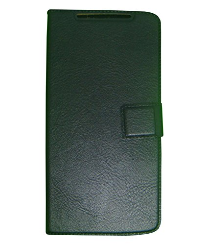 Zocardo Premium Faux Leather Flip case cover for Xolo Q1200 - Black - with Stand , Magnetic Lock