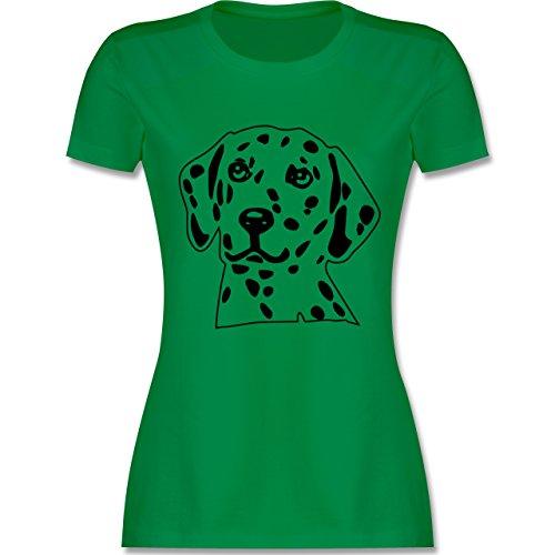 Hunde - Dalmatiner - tailliertes Premium T-Shirt mit Rundhalsausschnitt für Damen Grün