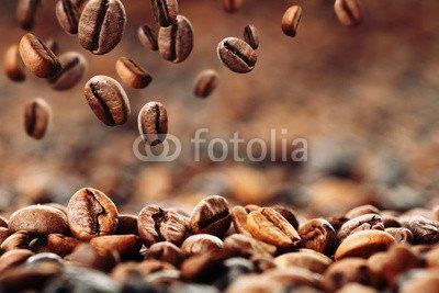 Leinwand-Bild 140 x 90 cm: 'Kaffeebohnen 4', Bild auf Leinwand