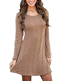 7ac3ccdeda8f9 Vestito in Maglia Donna Inverno Moda Basic Mini Abito Tubino Maglione Lungo  di Lana Vestiti Aderenti