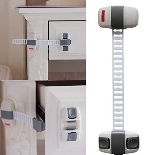 TAOtTAO Kindfenster-Sicherheitsschloss Justierbarer Kühlschrank-Schutz-Kühlraum-Türverschluss Baby-Sicherheits-Kindersicherung Sturm-snap