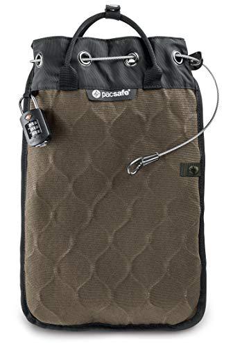 acsafe Travelsafe 5L - Mobiler Safe mit TSA-Zahlen Schloß, Trage-Tasche mit Anti-Diebstahl Technologie, 5 Liter Volumen, Beige/Sand