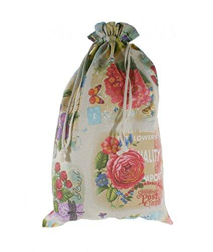 CAL FUSTER - Bolsa para el para en tela estampada diseño Frutas. Medidas: 57x37 cm.