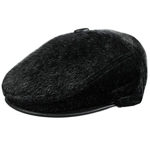 Pelliccia di visone finto per mantenere caldo in autunno e inverno cappelli con visiera/ middle-peluche imbottito caldo cappello/orecchio-A Unica