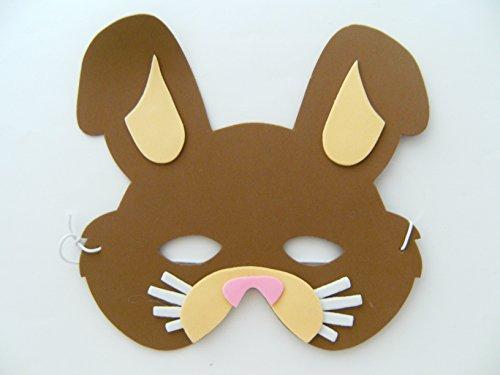 geburtstag Karneval Fasching Tier Tiere Masken Theater Bauernhof Kaninchen ()