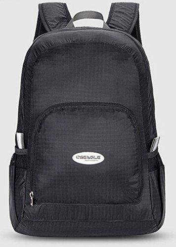 Cinny Ultra leichten und tragbaren klappbare Nylontasche wasserdichte outdoor-Sport für Männer und Frauen Black