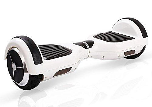 REVOE Hoverboard V-BOARD avec protection batterie incluse - Certifié norme UL2272 - Blanc