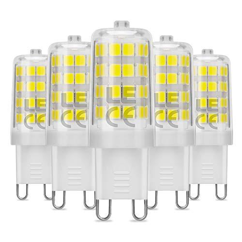 LE Bombillas LED, G9 5W Equivalente a 50W Halógena, Blanco Frío, 340lm...