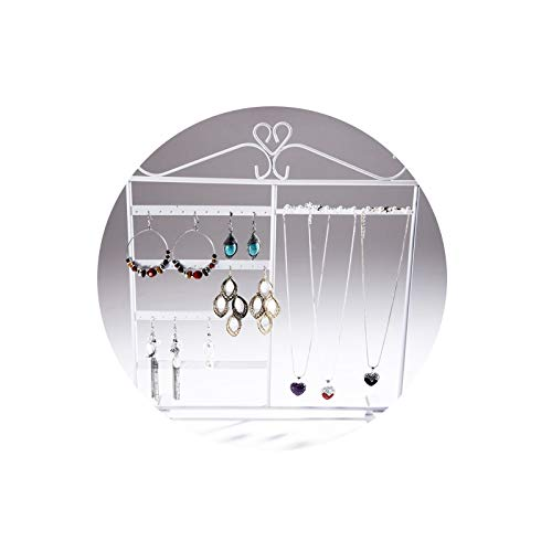AmDxD Legierung Schmuckständer Schmuckhalter für Halskette, Ohrringe, Armbänder - Weiß -